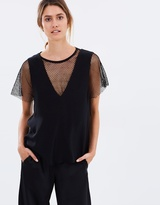 CHRISTOPHER ESBER Inner Flip Sheer Grid Tank