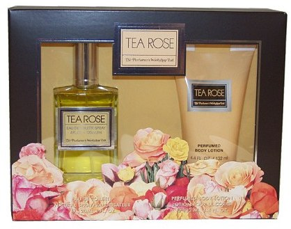 Perfumers Workshop Tea Rose Gift Set for Women, 2 Piece