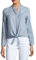 Saks Fifth Avenue Front-Tie Solid Top