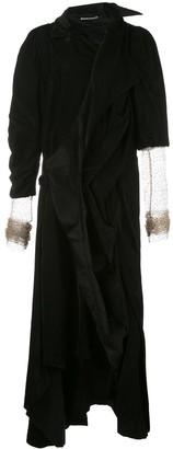 aganovich Asymmetric Velvet Jacket Dress