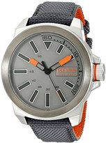 HUGO BOSS BOSS Orange Men's 1513115 New York Analog Japanese Quartz Grey Watch