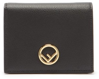 Fendi F Is Grained-leather Wallet - Black