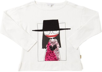 Little Marc Jacobs Sequined Cotton Jersey T-shirt