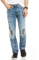 True Religion Rocco Relaxed Skinny Fit Destructed Jeans