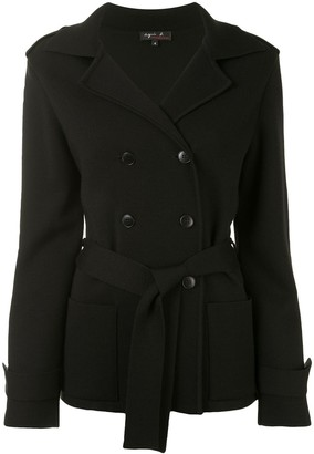 agnès b. Double-Breasted Front Tie Jacket