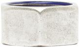 Maison Martin Margiela Antique Brass Ring in Blu