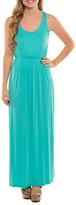 Aqua Racerback Maxi Dress