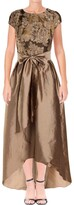 Thumbnail for your product : Adrianna Papell Women's Cap Sleeve Bead and Embroidered Gown with Hi Low Hem