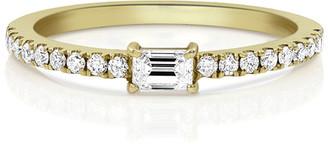 Dominique Cohen 18k Gold Diamond Baguette Stacking Ring