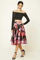Forever 21 FOREVER 21+ Floral Print A-Line Skirt