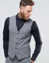 Religion Super Skinny Waistcoat In Check With Stretch