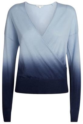 Jonathan Simkhai Ombre Cashmere Crossover Sweater