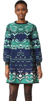 M Missoni Long Sleeve Mixed Media Dress