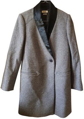 Zadig & Voltaire Fall Winter 2018 Grey Wool Coat for Women