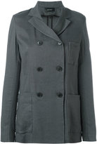 Isabel Marant double breasted jacket - women - Silk/Linen/Flax/Spandex/Elastane/Viscose - 36