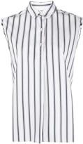 Aspesi striped sleeveless shirt