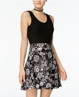 Planet Gold Juniors' Belle Fit & Flare Dress