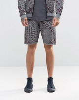 Asos Knitted Shorts with Geo-Tribal Design