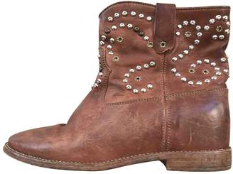 Isabel Marant Cluster Brown Leather Ankle boots