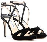 Jimmy Choo Lola 100 Velvet Sandals