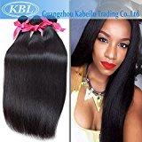 "KBL Grade 5A Brazilian Straight Hair 3 Bundles 300g Virgin Human Hair Extensions Natural Black #1B (14"" 14"" 14"")"