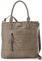 under one sky Taupe Washed Soft Pebbled Tote