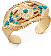 Danielle Nicole Gold-Tone Turquoise-Look Dream Bracelet, Only at Macy's