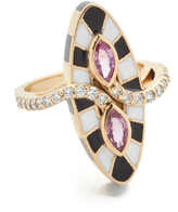 Holly Dyment Marquis Ring with Pink Sapphire