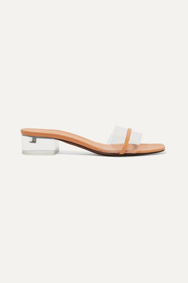 Neous Osty Pvc And Leather Mules - Sand