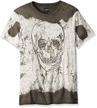 GUESS Men's Short Sleeve Stream Washed Crew Neck Shirt