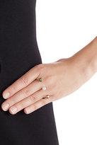 Delfina Delettrez 9k Gold Ring with Topaz and Pearl