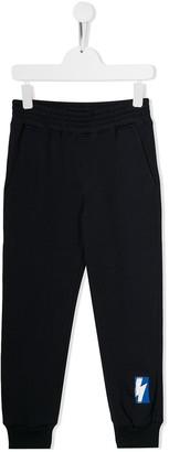 Neil Barrett Kids patch detail casual trousers