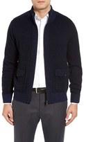 Toscano Men's Wool Blend Zip Cardigan