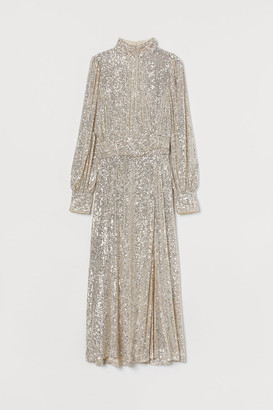 H&M Sequined Dress - Beige