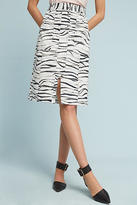 Tracy Reese Zebra-Printed Skirt