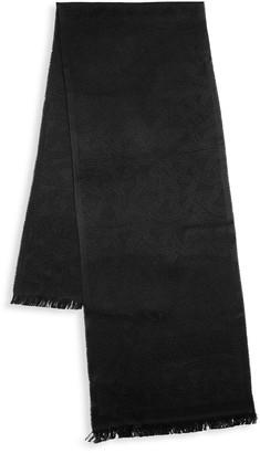 Versace Logo Print Wool-Blend Scarf