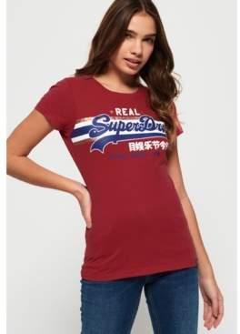 Superdry Vintage Logo Foil Stripe T-Shirt
