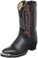 Durango Lil Black Lizard Western Boot (Toddler/Little Kid/Big Kid),Black Lizard N Chrome,8.5 M US Â Little Kid