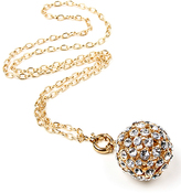 Amrita Singh Crystal & Goldtone Ball Pendant Necklace