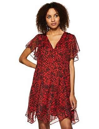 Boho thread Women's V- Neck Dress in