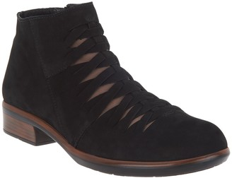 Naot Footwear Nubuck Woven Cut Out Ankle Boots - Leviche