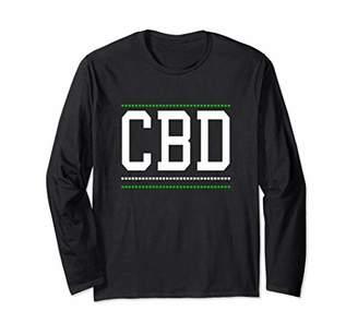 Men CBD Oil Hemp Leaf Design Women CBD Gift Long Sleeve T-Shirt