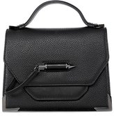 Mackage Keeley Dual Leather Crossbody Shoulder Bag In Black