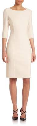 Carolina Herrera Double-Face Sheath Dress