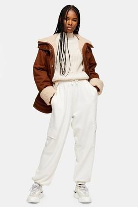 Topshop Brown Borg Lined Jacket