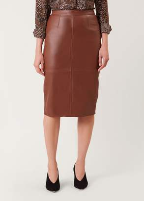 Hobbs Thea Leather Skirt