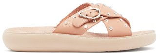 Ancient Greek Sandals Pella Stud-embellished Leather Slides - Light Pink