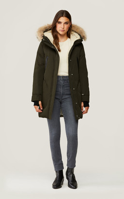 Soia & Kyo SAUNDRA classic down coat with removable natural fur