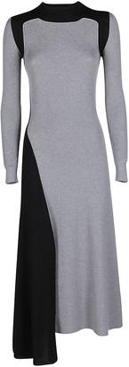 Alexander McQueen Grey Cashmere-wool Blend Dress