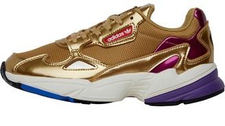 adidas Womens Falcon Trainers Gold Metallic/Gold Metallic/Off White